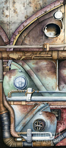 Steampunk Painting - Steampunk Vw's by James Stanley
