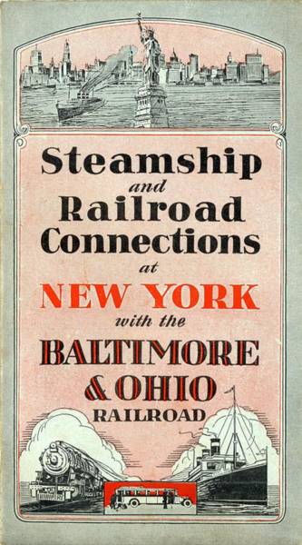 Digital Art - Steamship And Railroad Connections At New York by Baltimore and Ohio Railroad