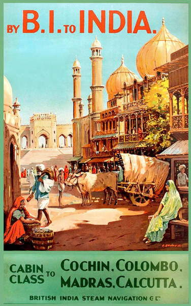 Wall Art - Painting - Steamship Cruise To India by Long Shot