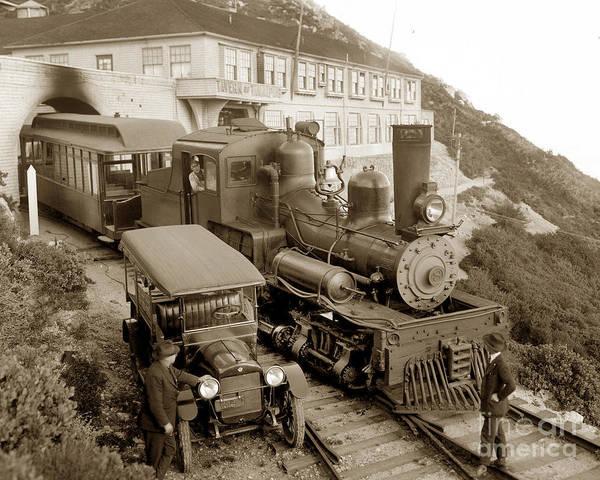 Photograph - Stean Engine No. 8 Mount Tamalpais Circa 1920 by California Views Archives Mr Pat Hathaway Archives