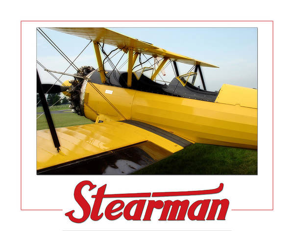 Photograph - Stearman by CE Haynes