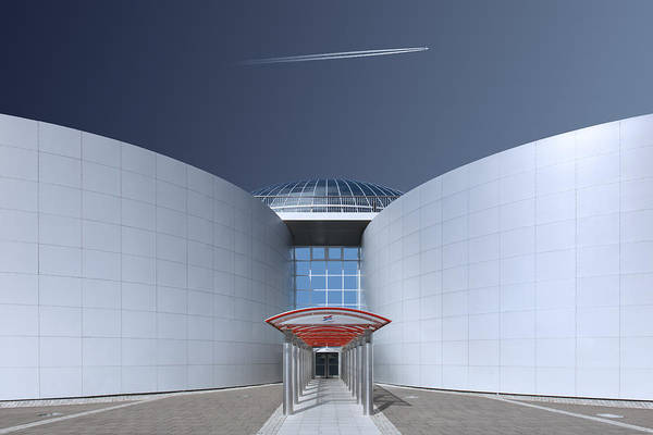 Symmetry Wall Art - Photograph - Steel And Sky by Markus Kuhne