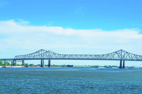 Wall Art - Photograph -  Steel Bridge Over Mississippi River  by Art Spectrum