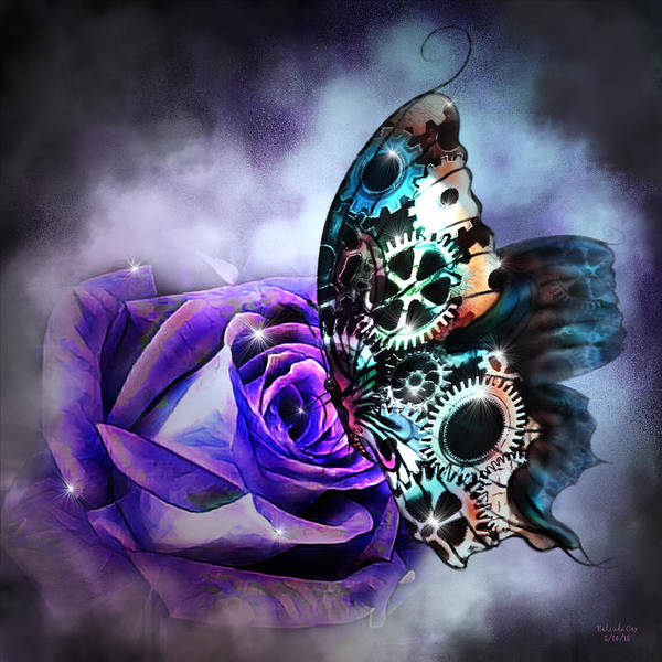 Digital Art - Steel Butterfly by Artful Oasis