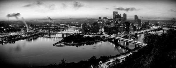 Wall Art - Photograph - Steel City Dawn - Bw by Stephen Stookey