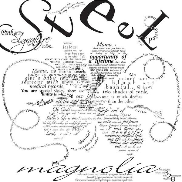 Steel Digital Art - Steel Magnolia Quotes by Jennifer Westlake