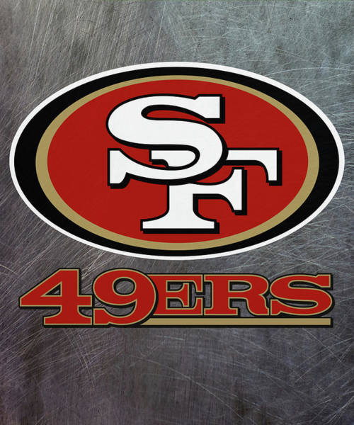 Mixed Media - San Francisco 49ers On An Abraded Steel Texture by Movie Poster Prints