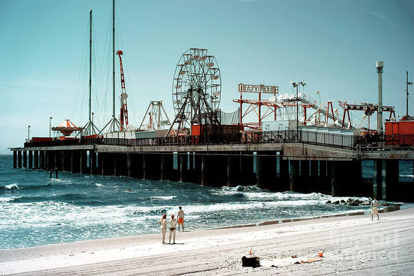 Photograph - Steel Pier Infrared by John Rizzuto