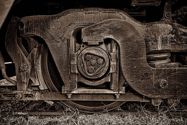 Photograph - Steel Wheel Of Progess - Sepia by Christopher Holmes