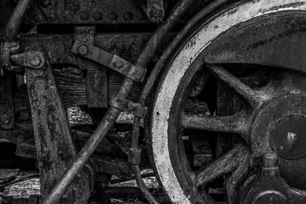 Photograph - Steel Wheels In Monochrome by Chris Coffee