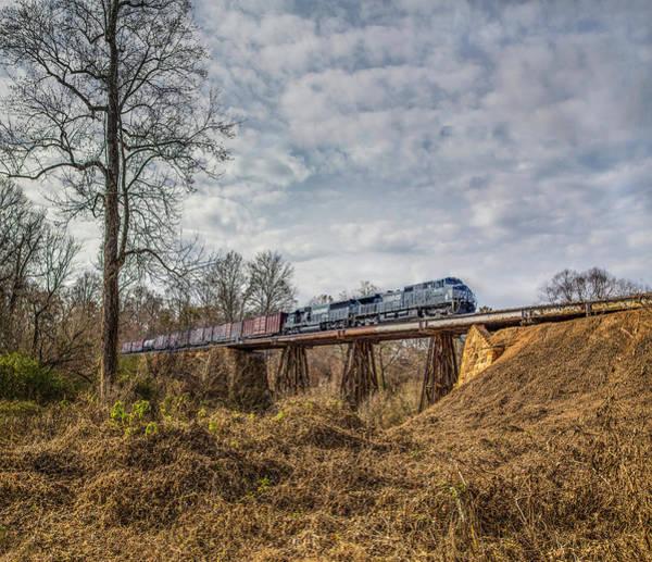 Photograph - Steele Creek Trestle Panorama by Jim Dollar