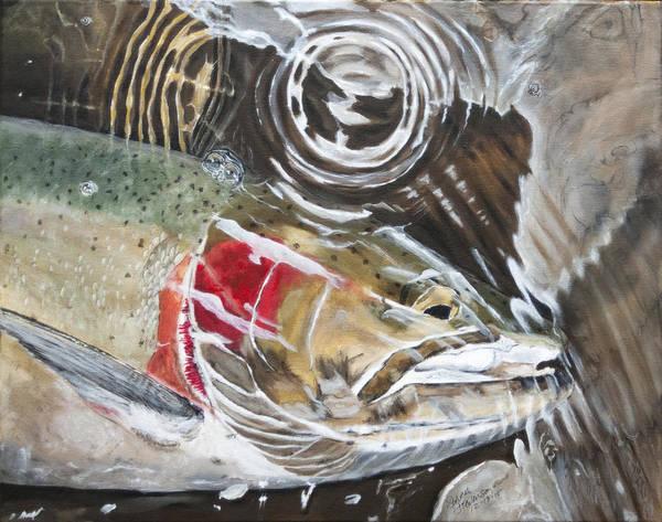 Spawn Painting - Steelhead Ripple by Sara Stevenson