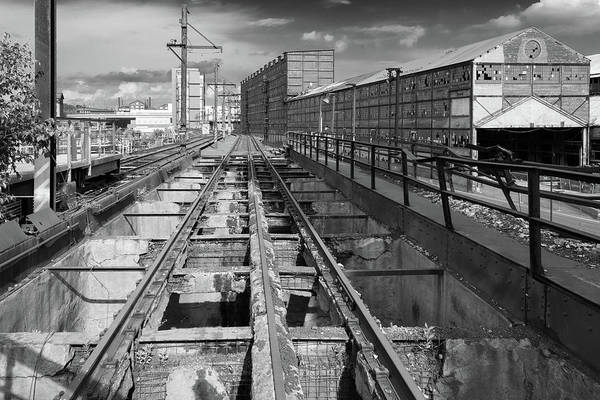 Steelyard Tracks 1 Art Print