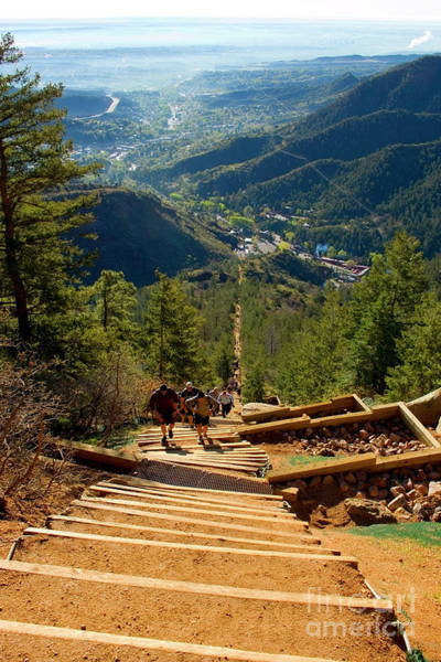 Photograph - Steep Manitou Incline And Barr Trail by Steve Krull