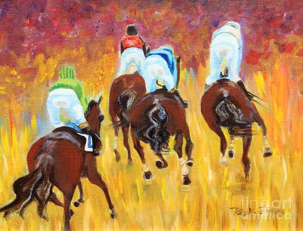 Wall Art - Painting - Steeple Chase by Pauline Ross