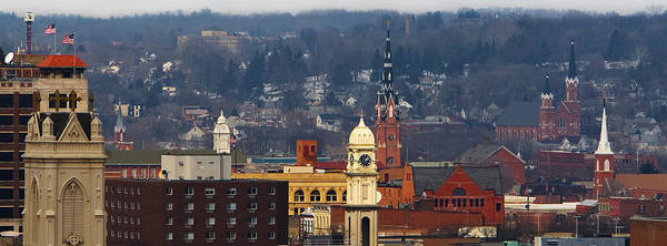 Steeple Wall Art - Photograph - Steeples Of Dubuque by Jane Melgaard