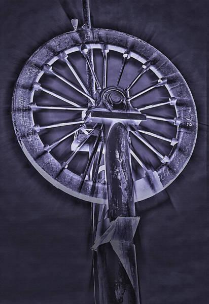 Wall Art - Photograph - Antique Wheel 2  - Inverted  by Steve Ohlsen