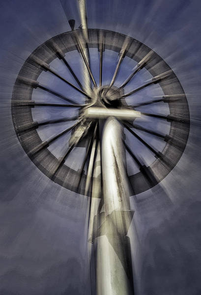 Wall Art - Photograph - Antique Wheel - Abstract by Steve Ohlsen