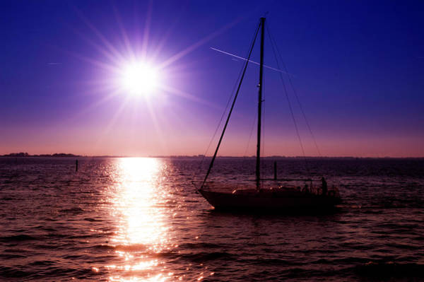 Photograph - Steering Towards The Sunset by Wolfgang Stocker