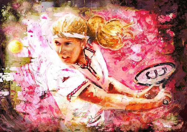 Painting - Steffi Graf Madness by Miki De Goodaboom