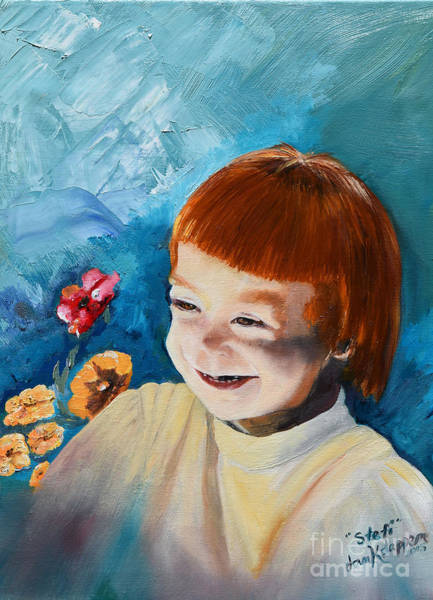Painting - Stefi- My Trip To Holland - Red Headed Angel by Jan Dappen