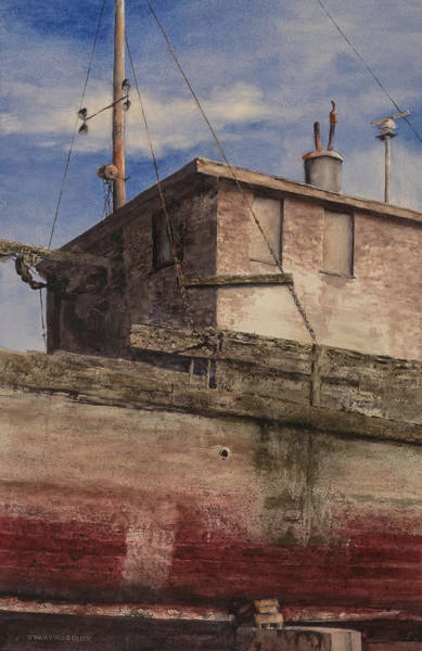 Port Townsend Painting - Steinbecks Boat by Jimmy Magouirk