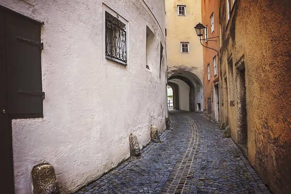 Austrian Wall Art - Photograph - Steingasse Salzburg by Carol Japp