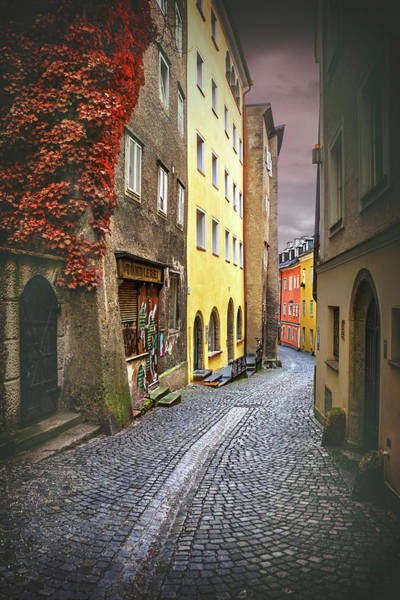 Austrian Wall Art - Photograph - Steingasse Street Salzburg Austria  by Carol Japp