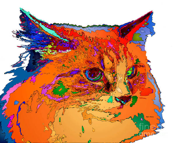 Digital Art - Stella The Cat. Pet Series by Rafael Salazar