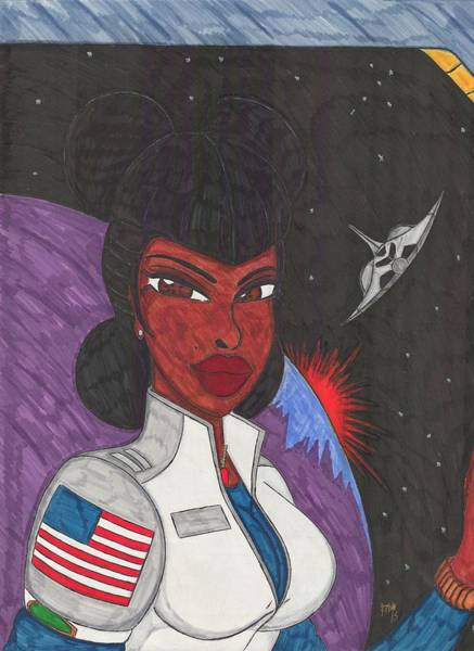 Space Exploration Mixed Media - Stellar Queen by Ronald Woods