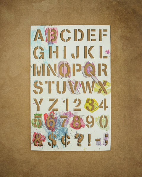 Making Wall Art - Photograph - Stencil Alphabet Fun by Scott Norris