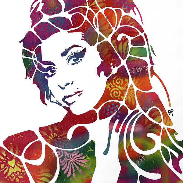 Wall Art - Painting - Stencil Amy by Dean Russo Art