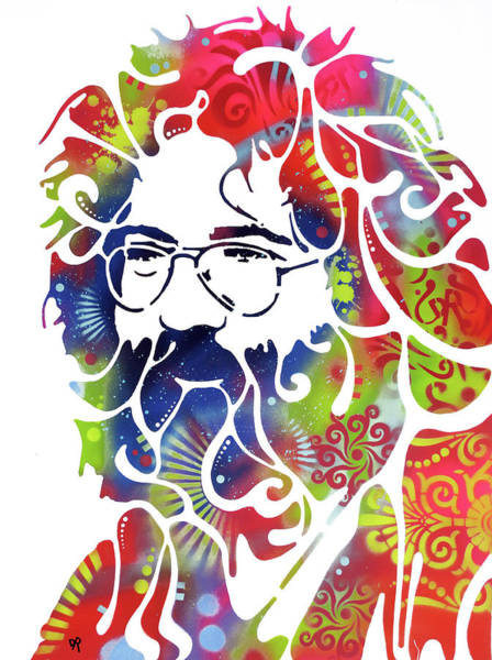 Painting - Stencil Jerry Lg by Dean Russo Art