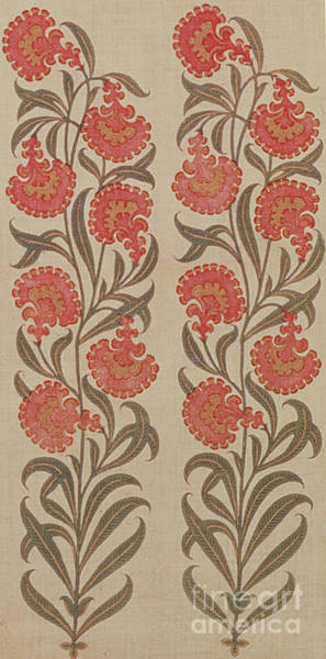 Wall Art - Tapestry - Textile - Stencilled And Hand-painted Cotton Girdle Or Patka, Rajasthan, India by Indian School