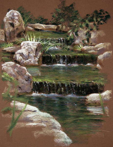 Painting - Step Falls Garden by Christopher Reid