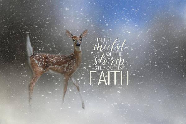 Photograph - Step Out In Faith - Deer Art by Jai Johnson