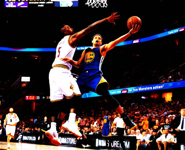 Wall Art - Painting - Steph Curry Left Hand by Brian Reaves