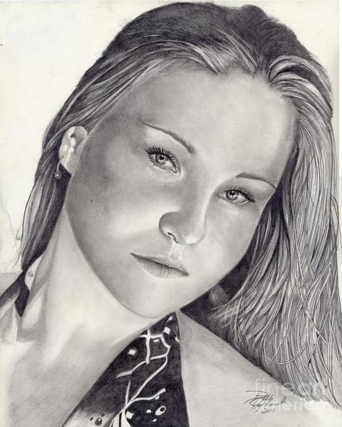 Drawing - Stephanie by Bill Richards