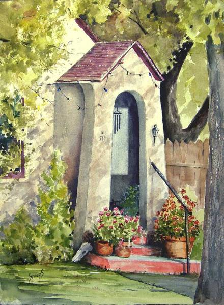 Painting - Stephanie's Porch by Sam Sidders