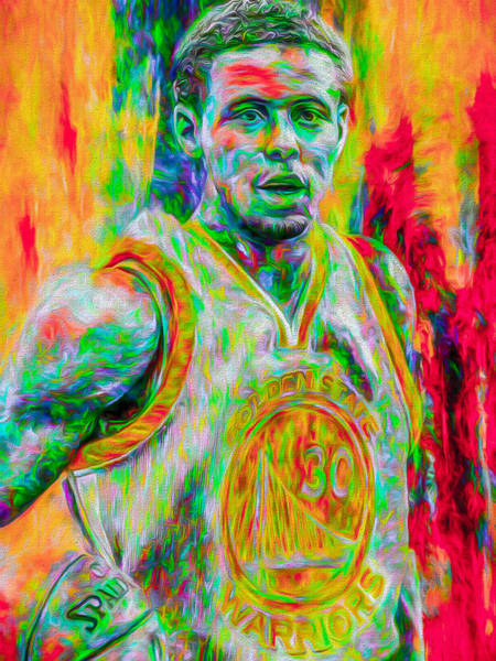 Photograph - Stephen Curry Golden State Warriors Digital Painting by David Haskett II