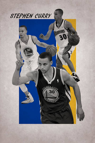 Court Photograph - Stephen Curry Golden State Warriors by Joe Hamilton