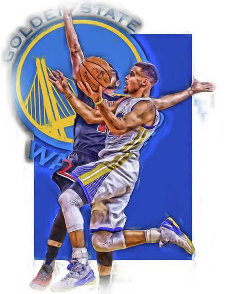 Stephen Curry Golden State Warriors Oil Art Art Print