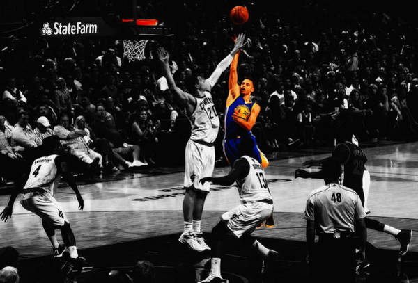 Wall Art - Mixed Media - Stephen Curry Soft Touch by Brian Reaves