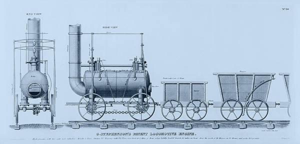 Drawing - Stephenson's Patent Locomotive Engine by Richard Reeve