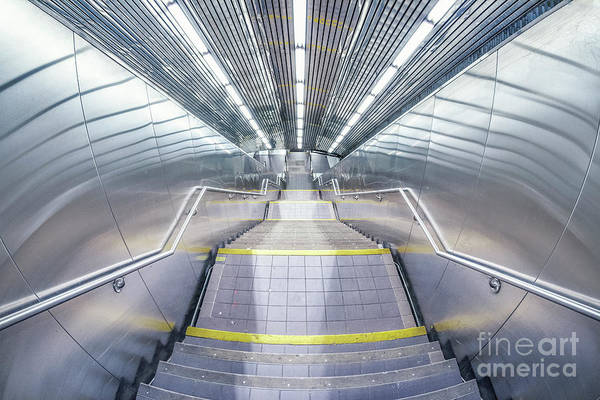 Contemporary Architecture Photograph - Stepping Down To The Underground by Evelina Kremsdorf