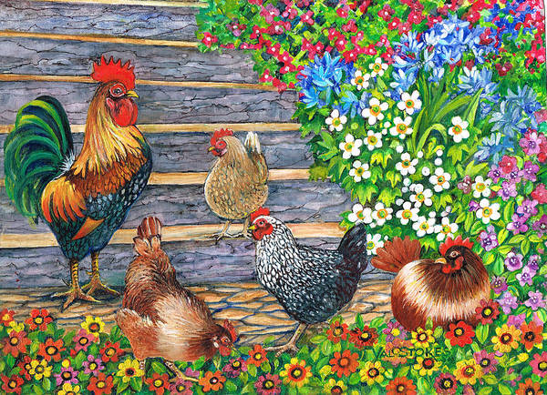 Painting - Stepping Out by Val Stokes
