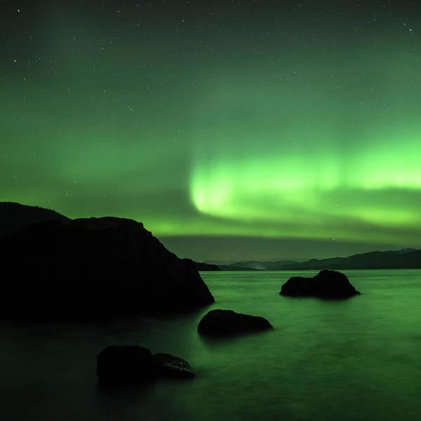 Photograph - Stepping Stones Aurora by Ian Johnson