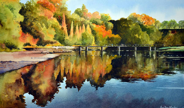 Bolton Wall Art - Painting - Stepping Stones Bolton Abbey by Paul Dene Marlor