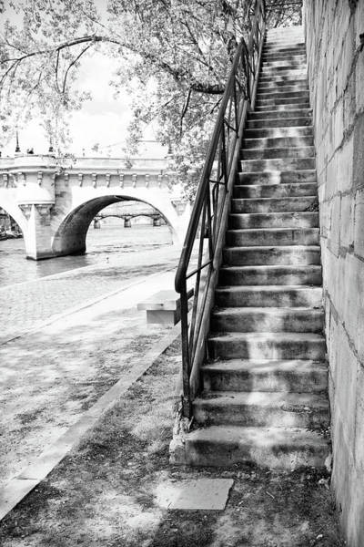 Steps By Pont Neuf, Paris Art Print