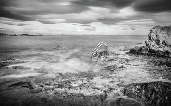 Photograph - Steps Into The Water by Gary Gillette